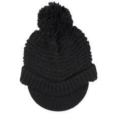 Gorras y sombreros de mujer de color principal negro de piel