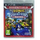 SONIC E Sega All-Stars Racing ESSENZIALI Playstation 3 PS3 GIOCO NUOVO