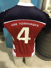 USA American Tomahawks Worn Player Issue Match Jersey Rabbitohs Broncos Qld Eels