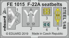 Eduard 1/48 Lockheed-Martin F-22A Seatbelts STEEL Zoom Set # FE1015