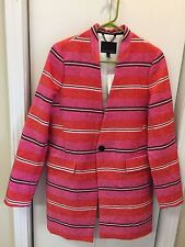 BANANA REPUBLIC Women's Stripe Coat Size Small New With Tag