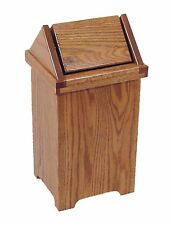 Small Oak Flip Top Trash / Recycling Bin -  Amish Made in USA