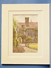 OLD HALL CORPUS CHRISTI COLLEGE CAMBRIDGE UNIVERSITY VINTAGE DOUBLE MOUNTED PIC
