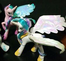 Lot of My 2 Little Pony PRINCESS CELESTIA Talking  Wings  Pegasus Unicorn