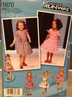 Simplicity Sewing Pattern 1670 Toddler Girls Child Dress Size 1/2-3 Uncut
