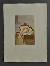 Peter Fendi 1796-1842 Lithographie 30x40cm Akt Erotik Biedermeier Nude Liebende