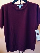 Lise J. Sweater KNIT Top Size SMALL Paisley Wine JF
