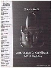 PUBLICITE ADVERTISING 104 1987 JEAN CHARLES de CASTELBAJAC sacs et bagages