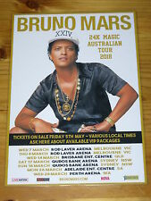 BRUNO MARS - 2018  24K MAGIC Australia Tour - Laminated Promotional Poster