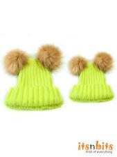 Mum & Baby Mother Child Matching Knitted Hat Warm Winter Kid Beanie Skully Brigh