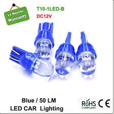 4Pcs T10 1 LED Ultra Blue W5W Side Wedge Light Globes Bulb DC 12V 50LM 194 168