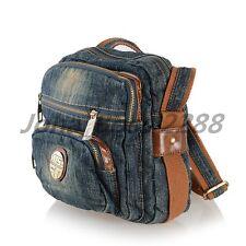 Women's Denim Shoulder Bags Jean Satchel Cross Body Messenger Bag Casual Handbag
