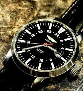 Aviator Poljot 24 hours Men's Wrist Watch Mechanical Rare Russian Soviet 836/999