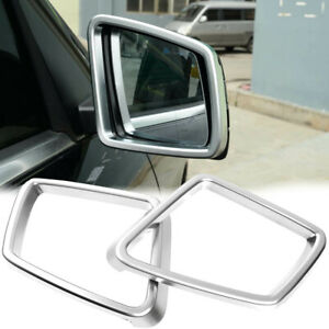 Pearl Silver Mirror Cover RearView Frame Plastic Cover For 12-15 W166 ML350 ML63