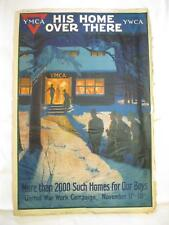 His Home Over There 2000 For Our Boys A Herter Original Old Vtg WWI War Poster
