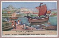 Phoenician Phenicie Sailing Ships Old Ancient Historic 60+ Y/O Trade Ad Card