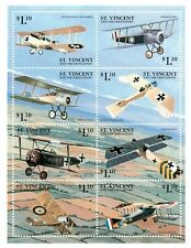 St. Vincent 1999 SC# 2691 Airplanes, Planes, Aviation - Sheet of 8 Stamps - MNH