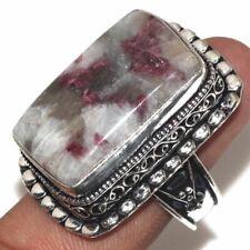 Handmade Purple Lepidolite Gemstone 925 Sterling Silver Ring Size 9 #R00083