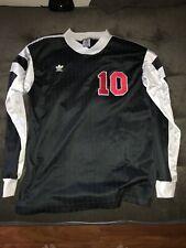 Adidas VTG 90s Trefoil #10 LS Soccer Jersey Large