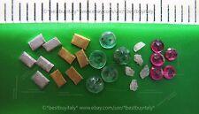 (IT) 5 lingotti oro 9999+5 argento puro 9999+5 diamanti grezzi+5 smeraldi+5 ruby