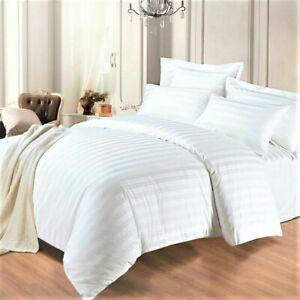 400 TC LUXURY HOTEL QUALITY COTTON SATIN STRIPE 3 PCS DUVET COVER Bedding Set