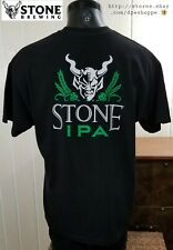 Stone Brewing Co. Classic Ipa Craft Beer Logo Black Graphic S/S T-Shirt Sz Xl