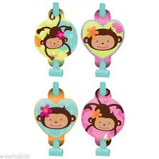 Monkey Love Birthday Party Blowouts 6ct