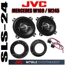 JVC 100mm 210w Altoparlante + MERCEDES CLASSE A w169 ALTOPARLANTI Anelli + Adattatore