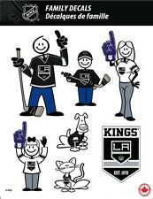 NHL LOS ANGELES KINGS STICK PEOPLE FAMILY DECALS ~ FULL COLOR VINYL DECALS