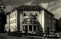 Bad Hall Oberösterreich Postkarte 60er Jahre gelaufen Partie am Hotel Sonnenheim
