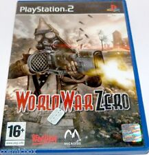 PlayStation 2 jeu video WORLD WAR ZERO action combat guerre console ps2 complet