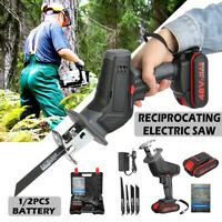 48VF Portable Electric Reciprocating Saw Garden Wood Cutting Pruning Saw Tool