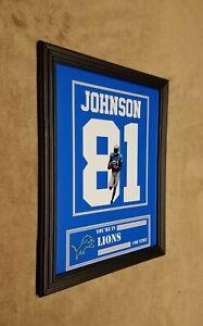 Detroit Lions Calvin Johnson Framed 8x10 Jersey Photo