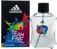Adidas Team Five Cologne by Adidas, 3.4 oz EDT Spray for Men NEW