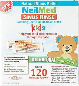 NeilMed Sinus Rinse Premixed Paediatric Kids Nasal Irrigation 120 Sachets