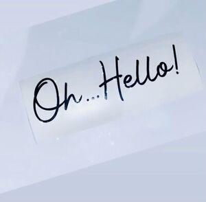 Oh... hello! Letter Box Sticker ❤️ Stacey Solomon