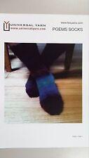 Universal Yarn Knitting Pattern TX022 to Knit Lace Socks in Poems Sock Wool