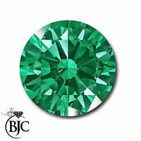 BJC® Loose Green Round Cut Natural Colombian Emerald Stones 1.80mm - 4.00mm