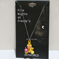 NEW Five Nights at Freddy's 3-D CHICA Yellow Duck Metal charm pendant necklace