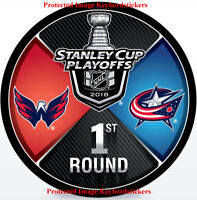 2018 Stanley Cup Playoffs Puck Washington Capitals vs Columbus Blue Jackets 1st