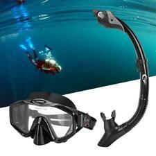 Anti-Fog Face Mask Swimming Dry Diving Goggle Snorkel Scuba Glass w/ Breath Tube