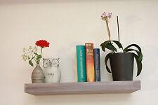 Wandboard Board Bücher Holz Regal Massiv Shabby White wash Vintage 69/25