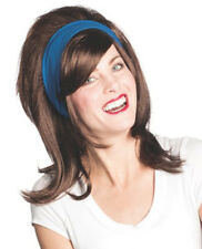 Florence Wig Dark Brown Flo Progressive Insurance Commercial TV Headband 60's