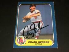 Angels Craig Gerber Auto Signed 1986 Fleer #156 JSA C