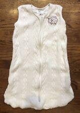 Halo Sleepsack Cream Cable Knit Sheep Unisex Wearable Blanket Small S 0-6m