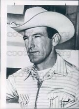 1965 Press Photo World Champion Cowboy Bill Linderman