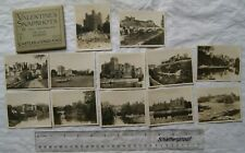 Vintage: Valentine's Snapshots Castles of England, 12 Real Photographs in wallet