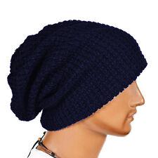 Mens Slouch Long Beanie Hat Knitted Oversized Baggy Skateboard Ski Winter Warm