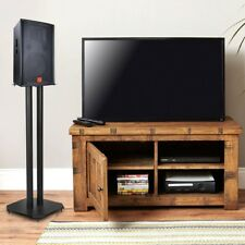 A Pair Metal Speaker Stands for Home Theater 5.1 Channel Surround Sound System