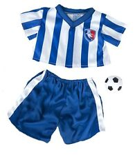 """Blue Calcio in costume per 16""""/40cm Teddy Bears & Costruisci il tuo ORSI"""